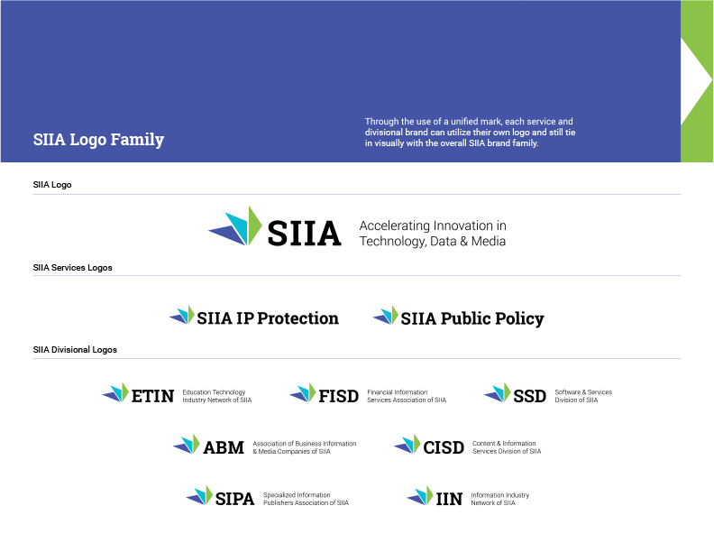 SIIA Style Guide - Logo Family